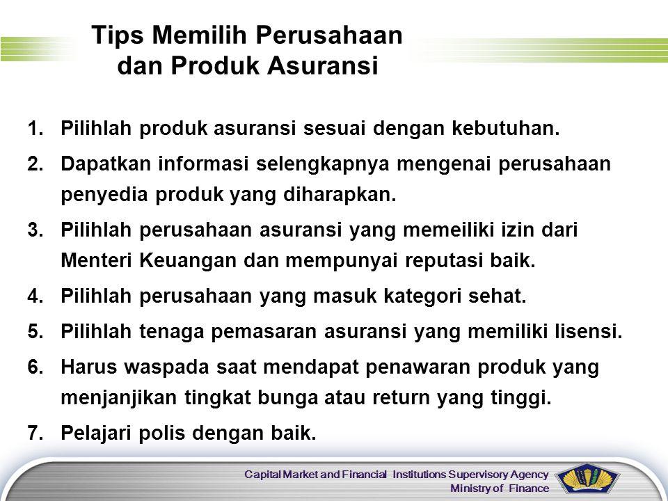 Tips Memilih Perusahaan dan Produk Asuransi