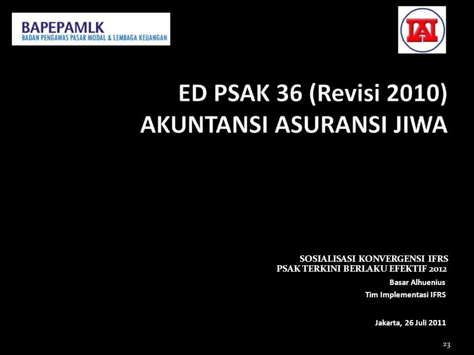 SOSIALISASI KONVERGENSI IFRS PSAK TERKINI BERLAKU EFEKTIF 2012