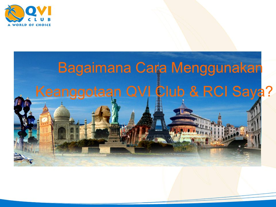 Keanggotaan QVI Club & RCI Saya