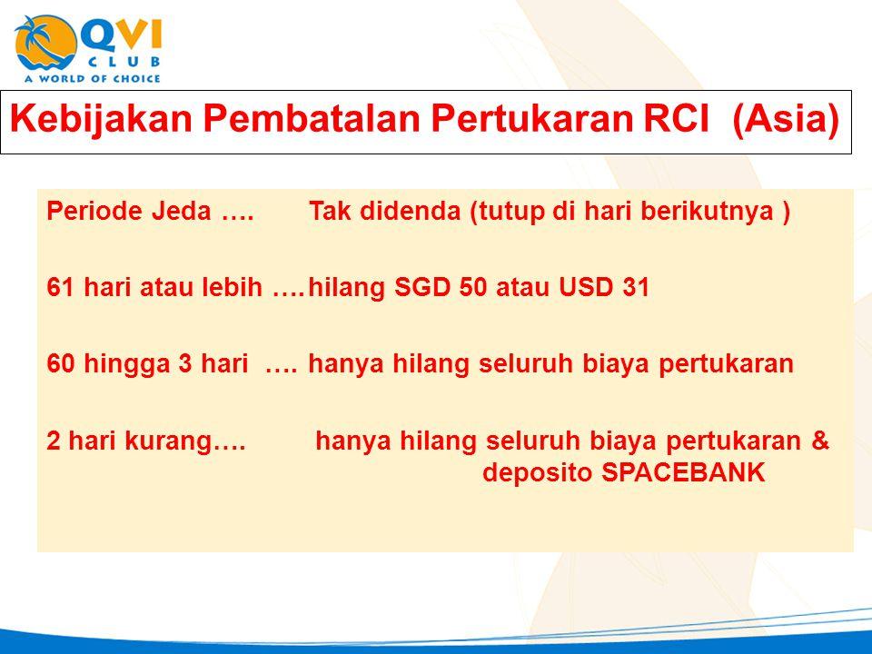 Kebijakan Pembatalan Pertukaran RCI (Asia)