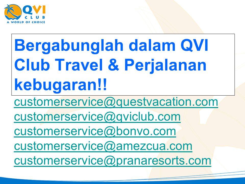 Bergabunglah dalam QVI Club Travel & Perjalanan kebugaran