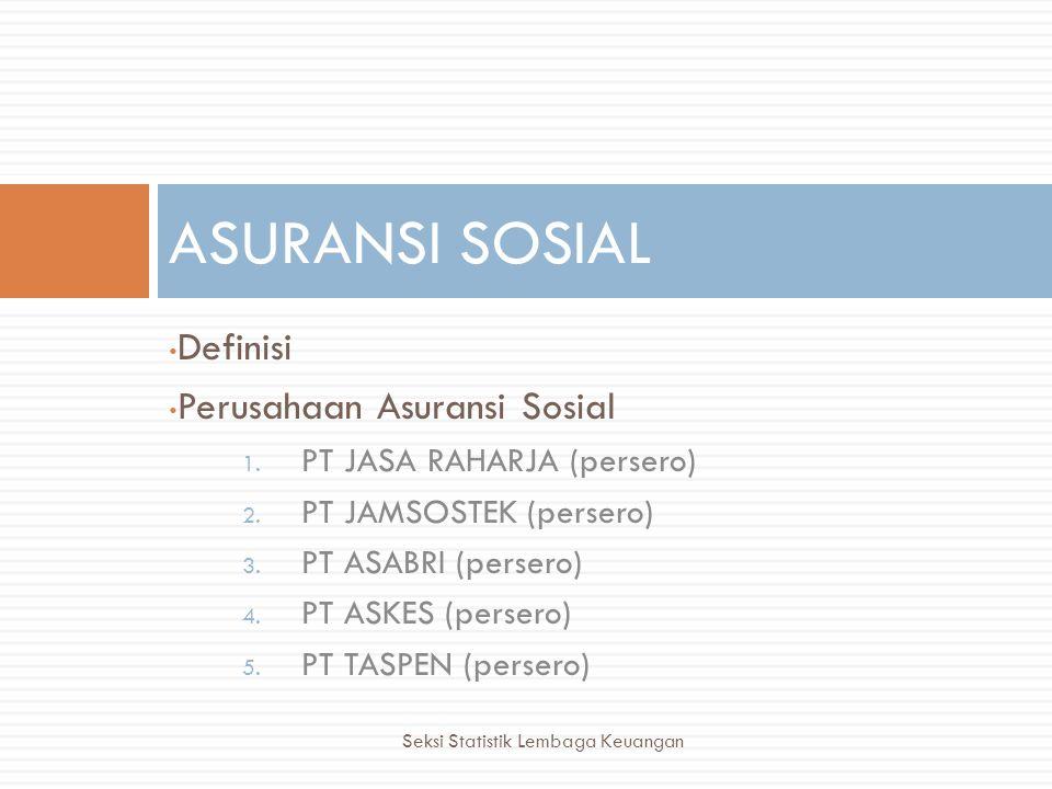 ASURANSI SOSIAL Definisi Perusahaan Asuransi Sosial
