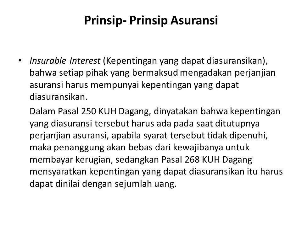 Prinsip- Prinsip Asuransi