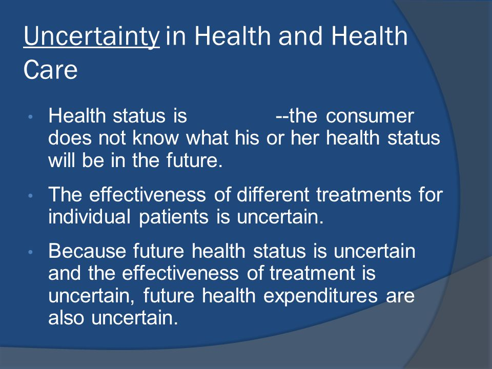 Uncertainty in Health and Health Care
