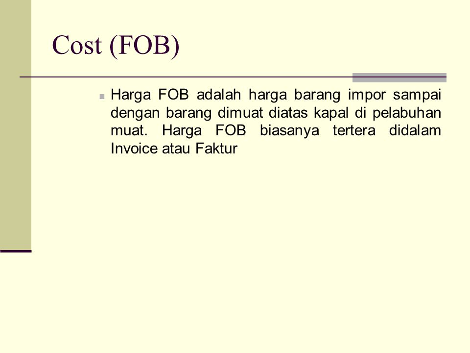 Cost (FOB)
