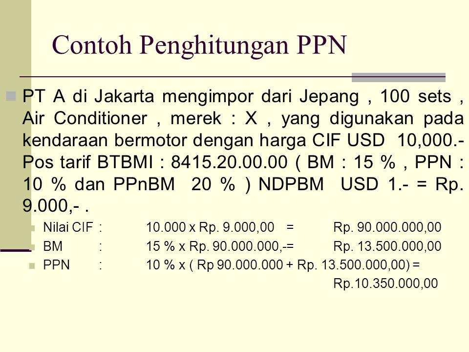 Contoh Penghitungan PPN