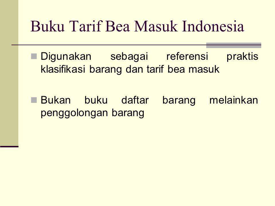 Buku Tarif Bea Masuk Indonesia