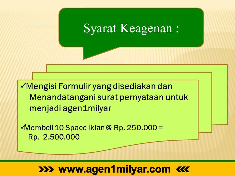 Syarat Keagenan : www.agen1milyar.com