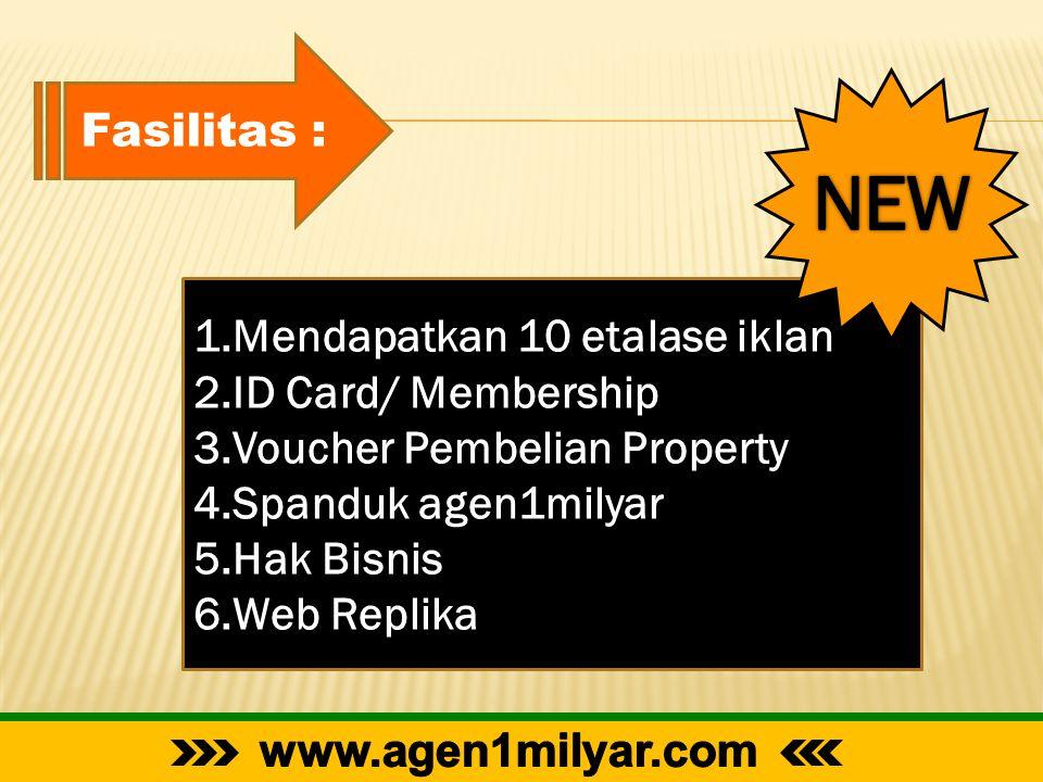 NEW Fasilitas : Mendapatkan 10 etalase iklan ID Card/ Membership