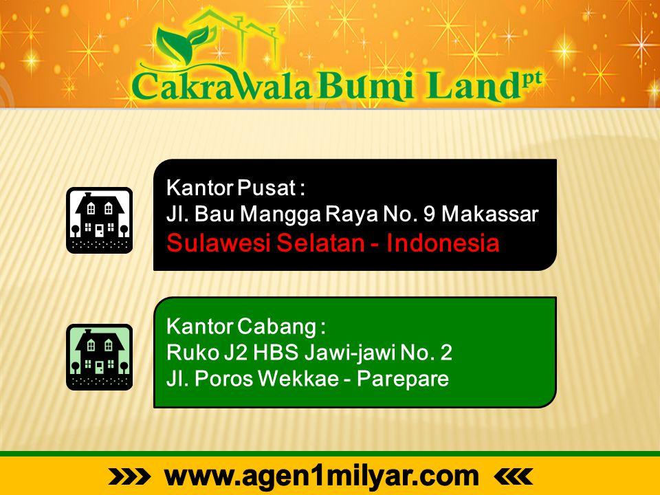 www.agen1milyar.com Sulawesi Selatan - Indonesia Kantor Pusat :