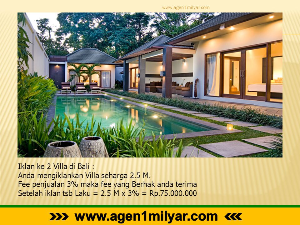 www.agen1milyar.com Iklan ke 2 Villa di Bali :
