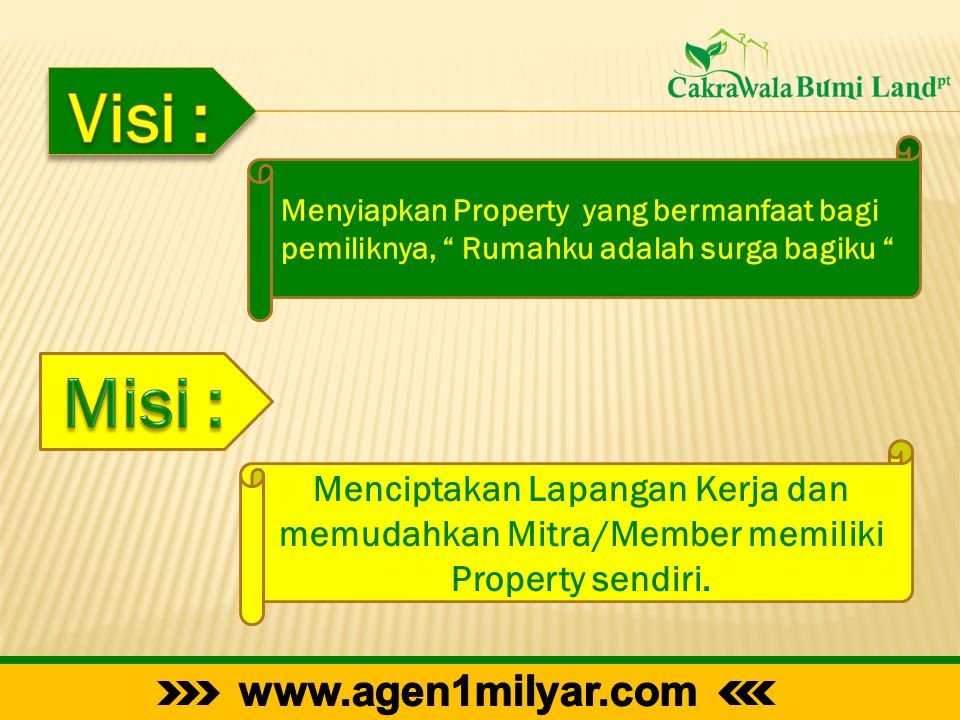 Visi : Misi : www.agen1milyar.com