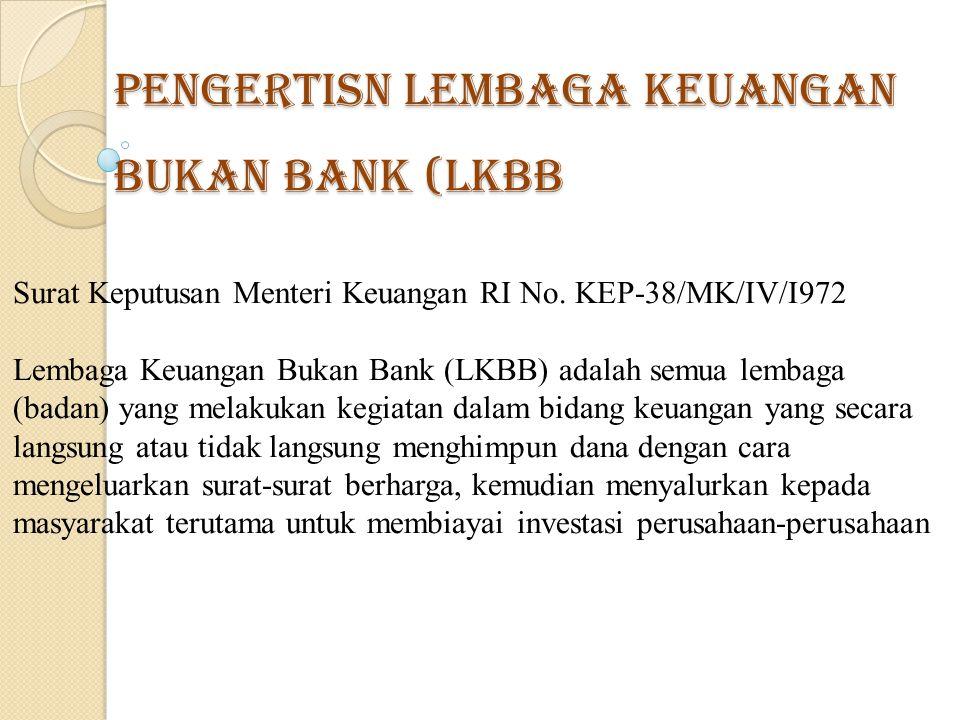 Pengertisn Lembaga Keuangan Bukan Bank (LKBB