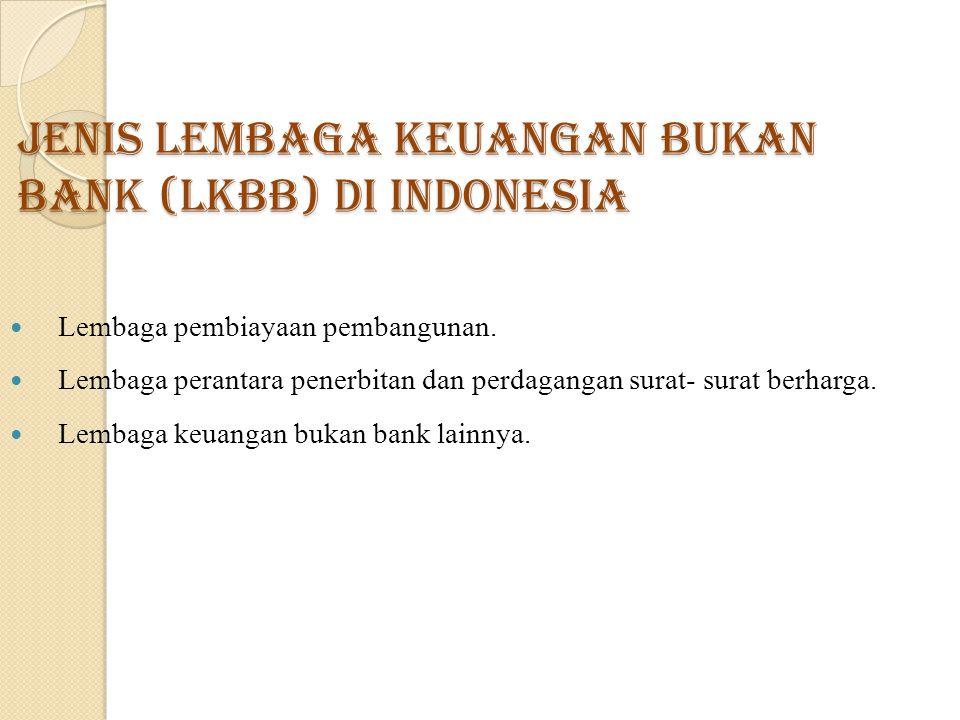 Jenis Lembaga Keuangan Bukan Bank (LKBB) di Indonesia
