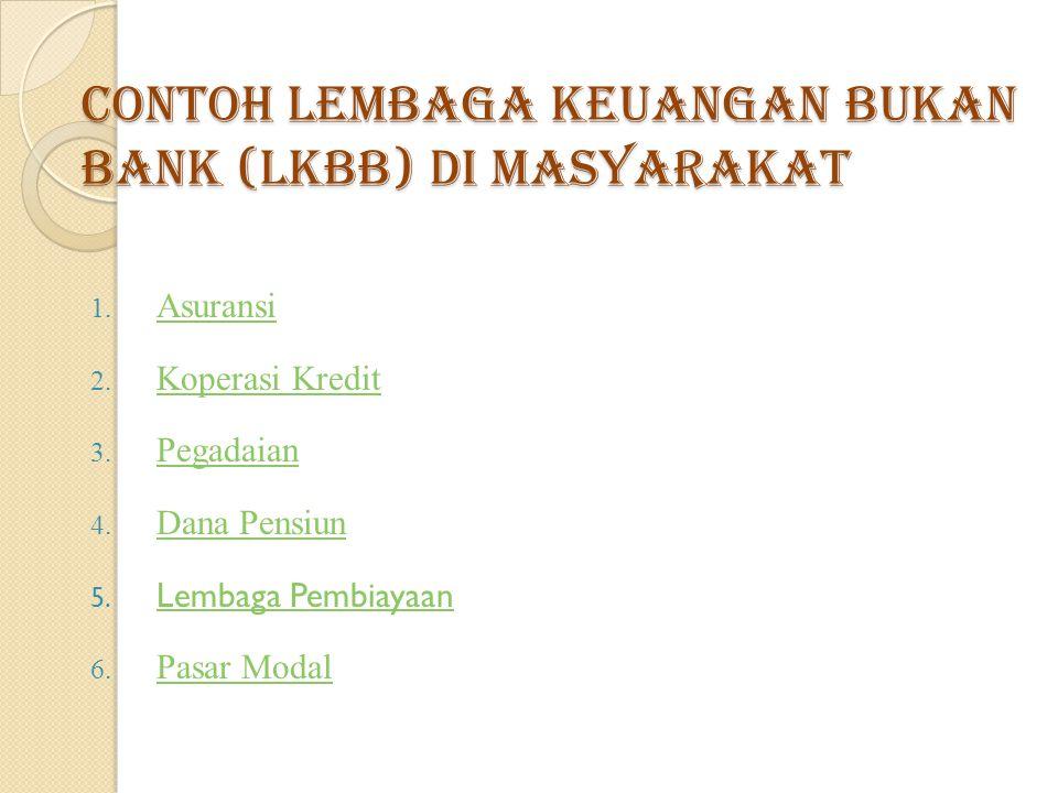 Contoh Lembaga Keuangan Bukan Bank (LKBB) di masyarakat
