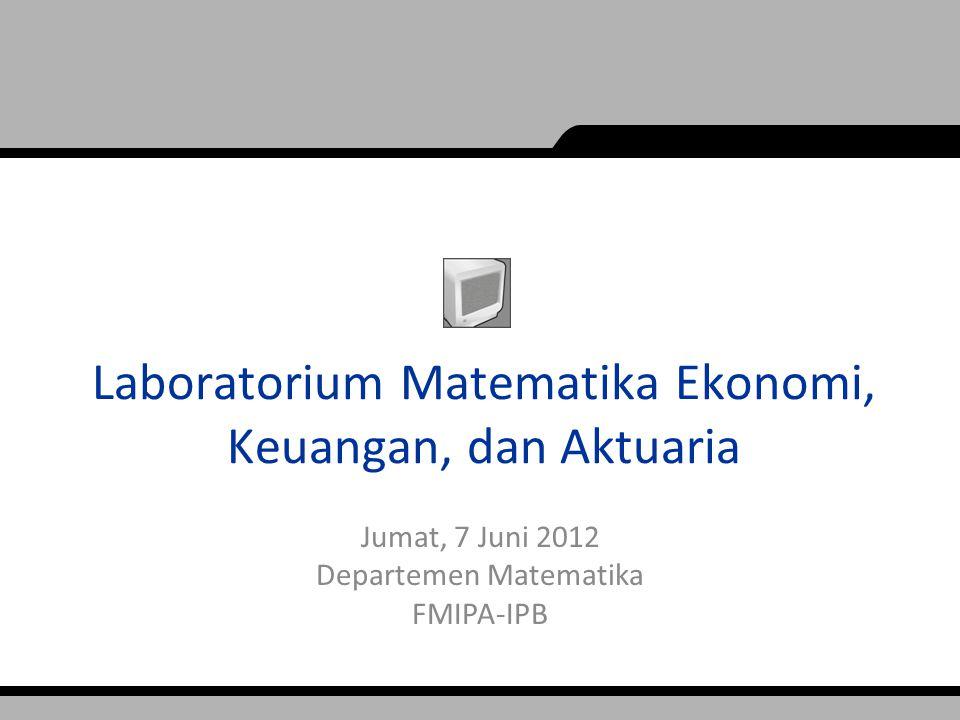 Laboratorium Matematika Ekonomi, Keuangan, dan Aktuaria
