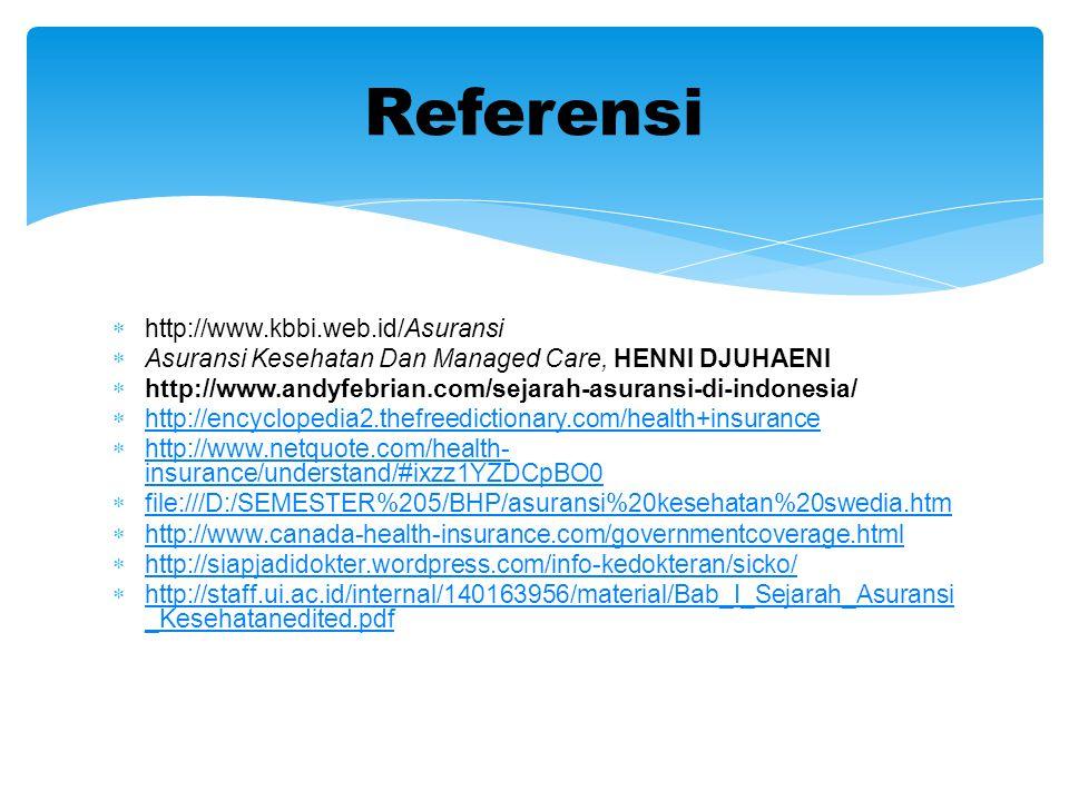 Referensi http://www.kbbi.web.id/Asuransi