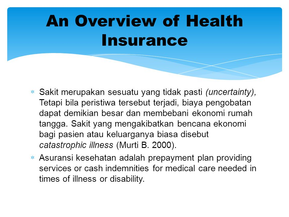 An Overview of Health Insurance