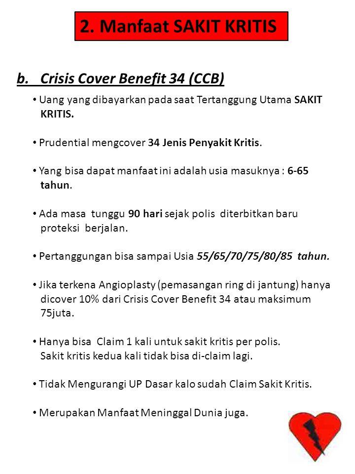2. Manfaat SAKIT KRITIS b. Crisis Cover Benefit 34 (CCB)