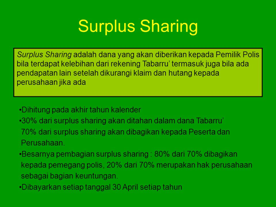 Surplus Sharing
