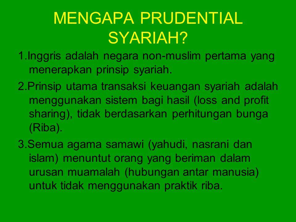 MENGAPA PRUDENTIAL SYARIAH