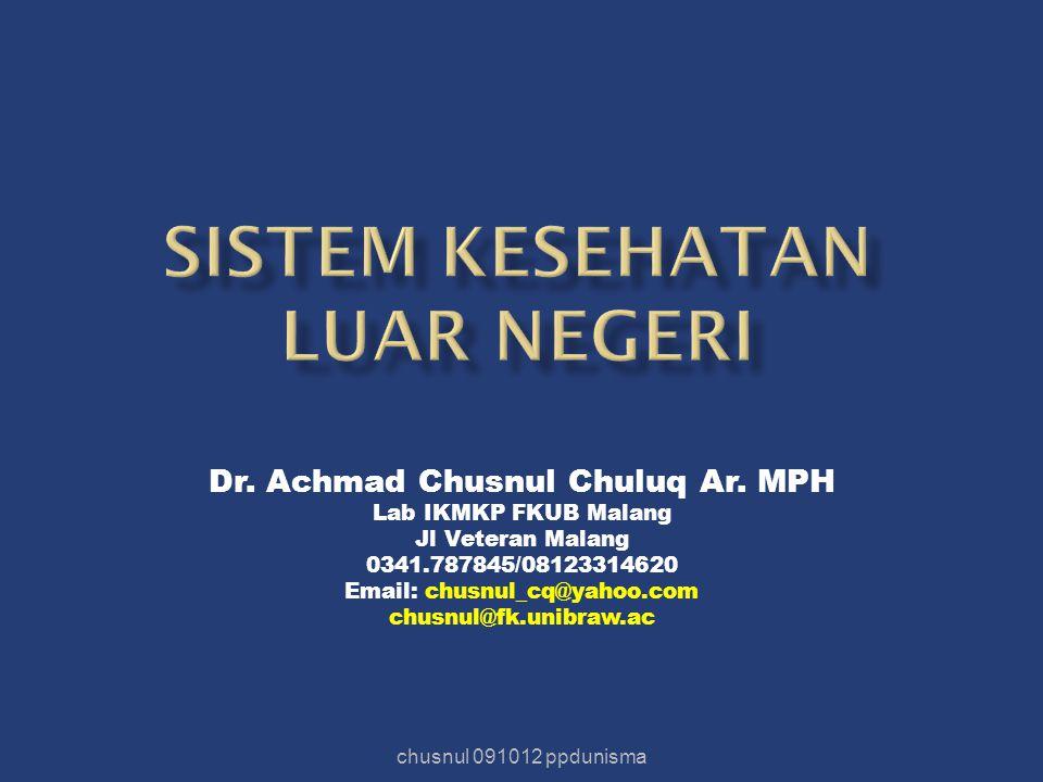 Sistem kesehatan luar negeri