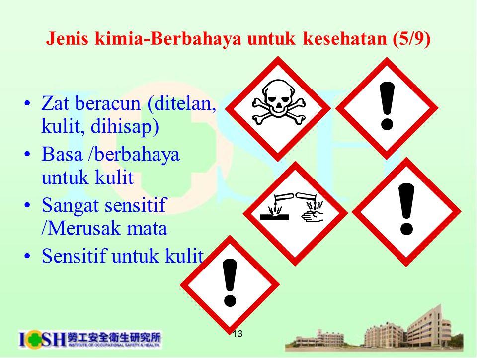 Jenis kimia-Berbahaya untuk kesehatan (5/9)