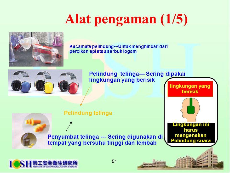Alat pengaman (1/5) Kacamata pelindung---Untuk menghindari dari. percikan api atau serbuk logam.