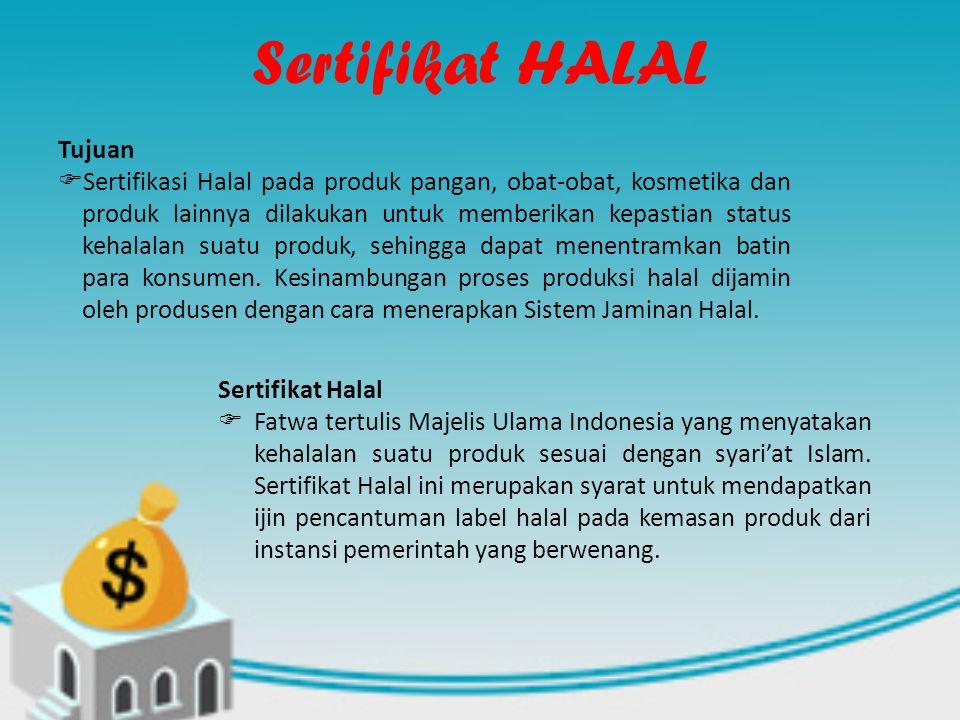 Sertifikat HALAL Tujuan