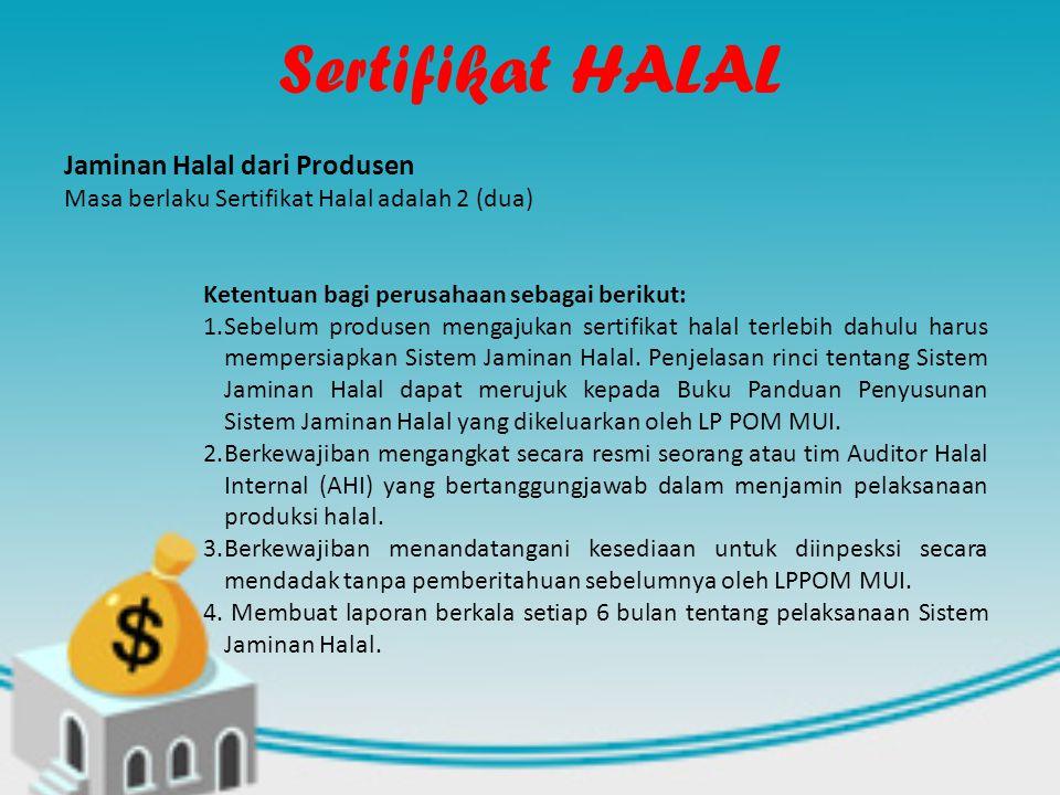 Sertifikat HALAL Jaminan Halal dari Produsen