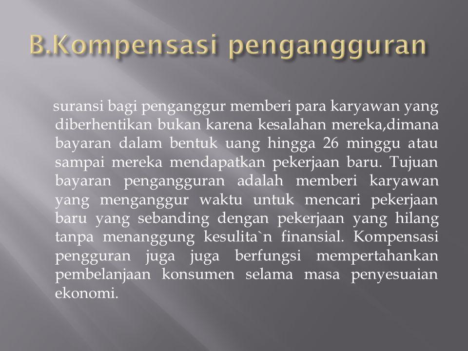 B.Kompensasi pengangguran