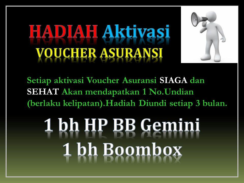 HADIAH Aktivasi 1 bh HP BB Gemini 1 bh Boombox