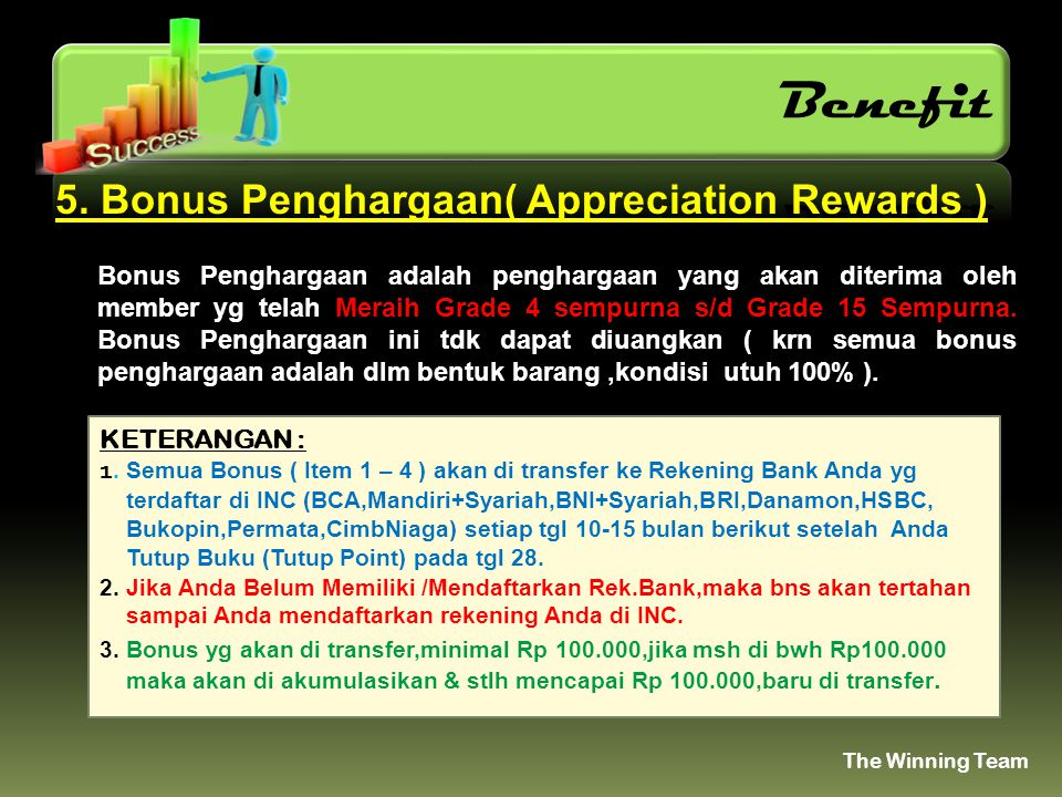 Benefit 5. Bonus Penghargaan( Appreciation Rewards )