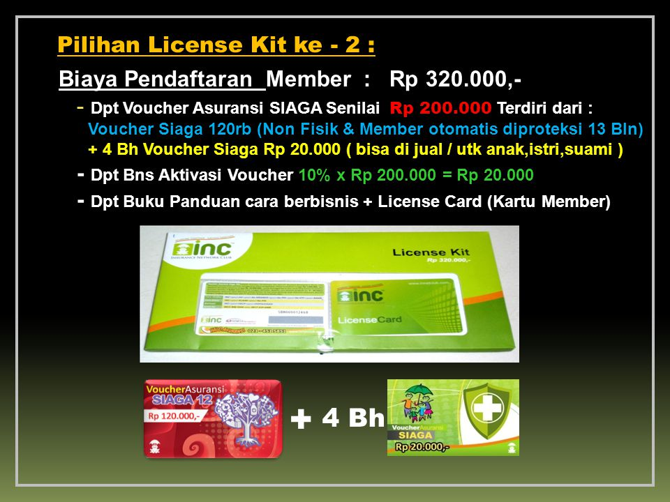 + 4 Bh Pilihan License Kit ke - 2 :