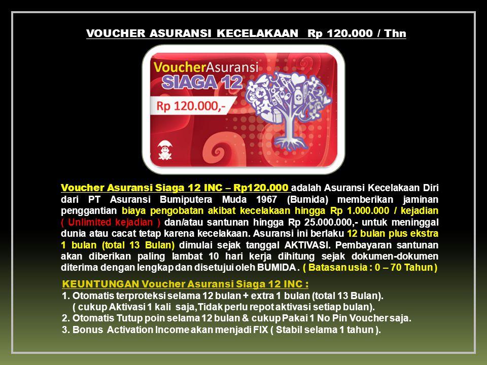 VOUCHER ASURANSI KECELAKAAN Rp 120.000 / Thn