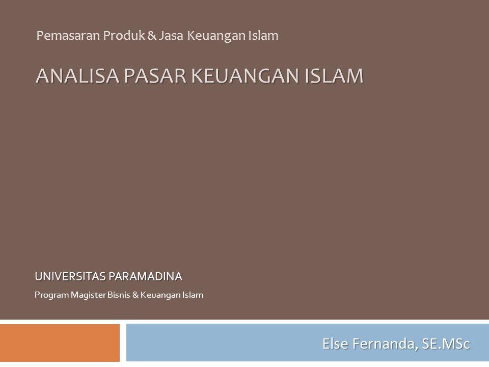 ANALISA PASAR KEUANGAN ISLAM