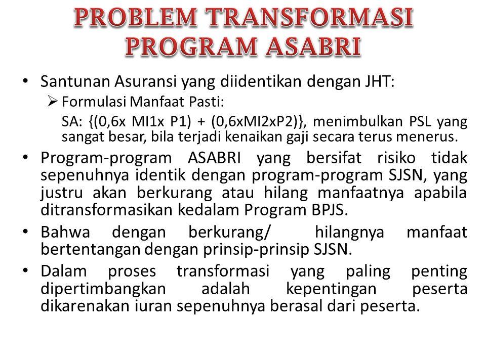 PROBLEM TRANSFORMASI PROGRAM ASABRI