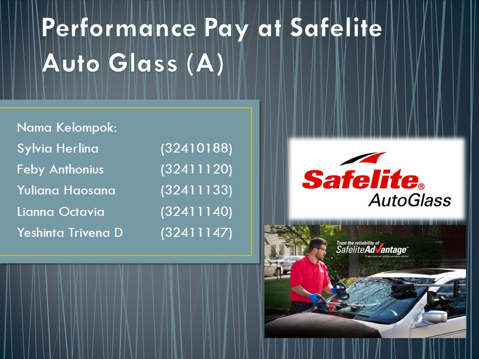 Performance Pay at Safelite Auto Glass (A)