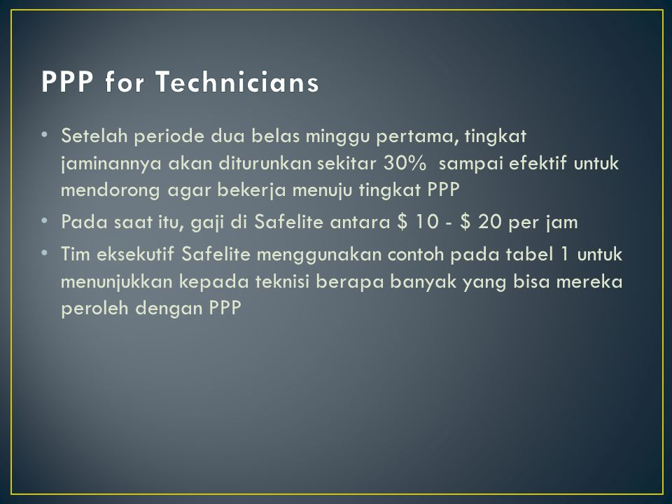 PPP for Technicians