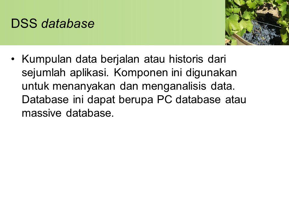 DSS database