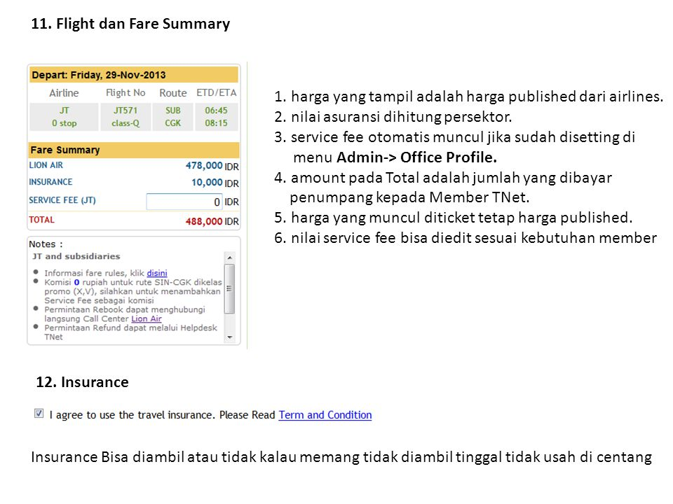 11. Flight dan Fare Summary