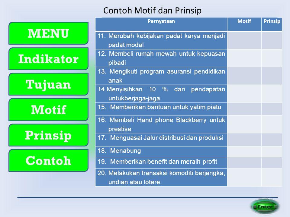 Contoh Motif dan Prinsip