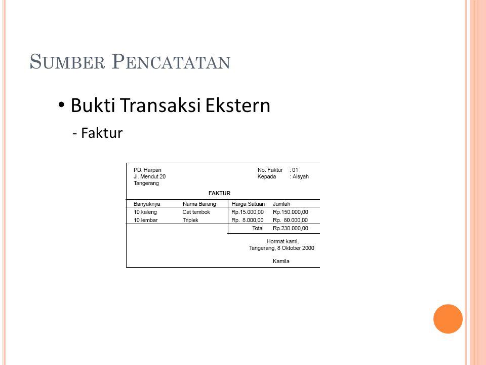Bukti Transaksi Ekstern - Faktur