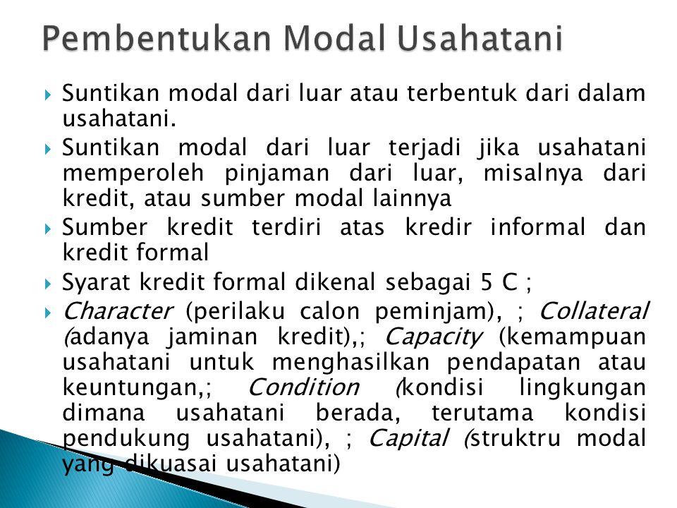 Pembentukan Modal Usahatani