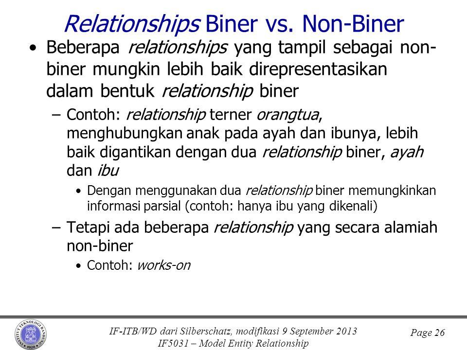 Relationships Biner vs. Non-Biner