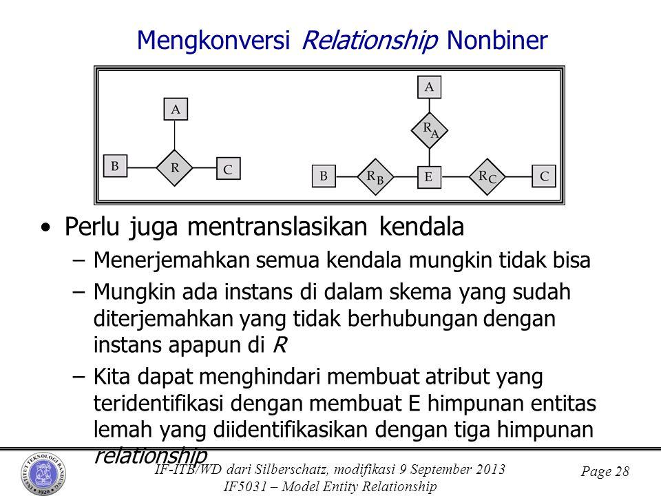 Mengkonversi Relationship Nonbiner