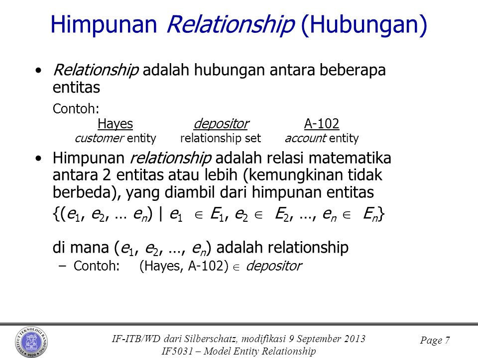 Himpunan Relationship (Hubungan)