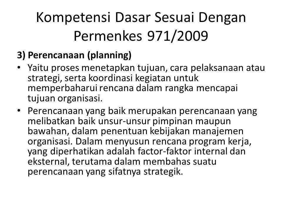 Kompetensi Dasar Sesuai Dengan Permenkes 971/2009