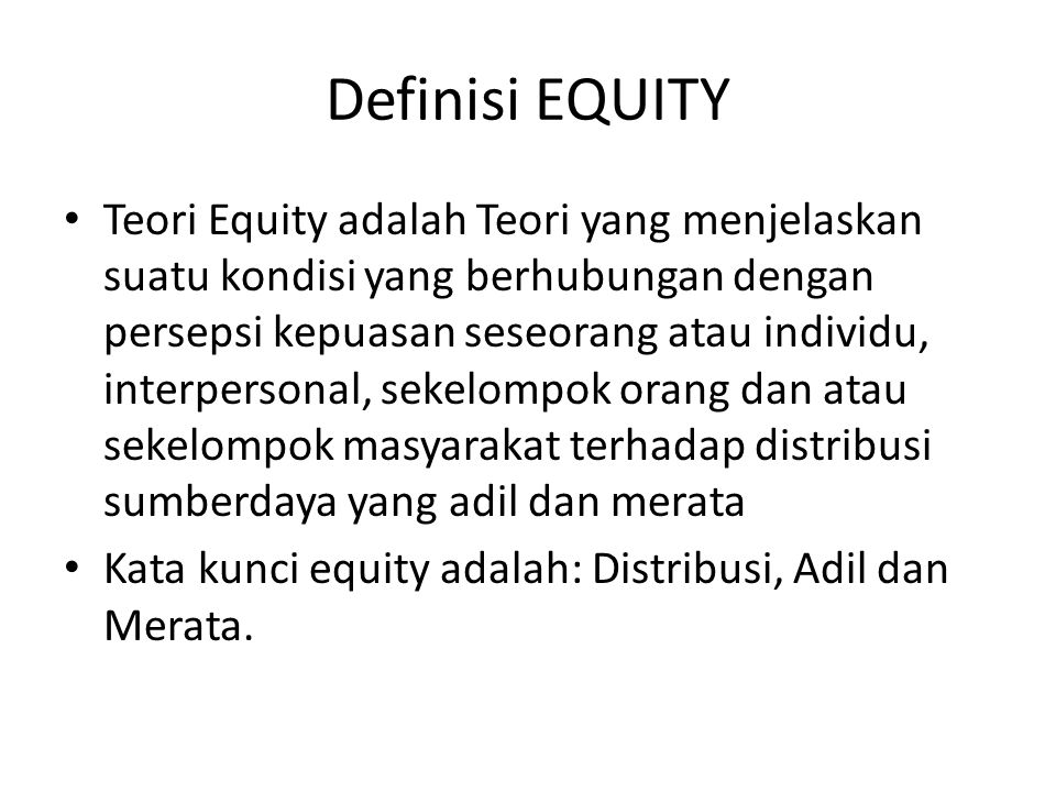 Definisi EQUITY