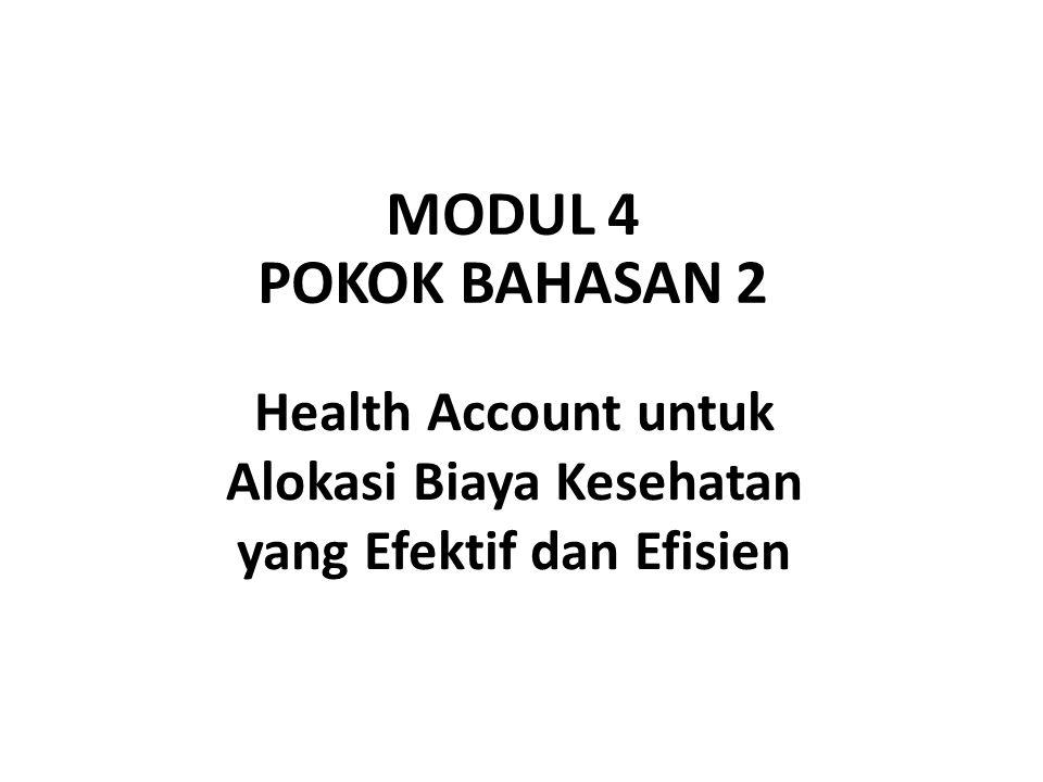 Health Account untuk Alokasi Biaya Kesehatan yang Efektif dan Efisien